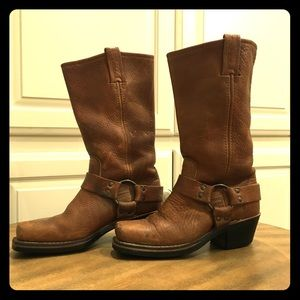 Frye mid-calf harness boots